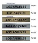 Los Angeles Clock Name Plate |World Time Zone City Wall clocks Sign custom Plaque